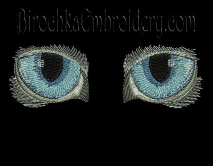 Machine Embroidery Design Cat S Eyes Birochka Embroidery
