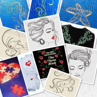 Home and clothing decor embroidery designs
