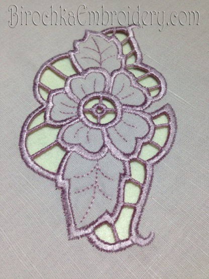 Cutwork Machine Embroidery Design Richelieu Flower Birochka Embroidery
