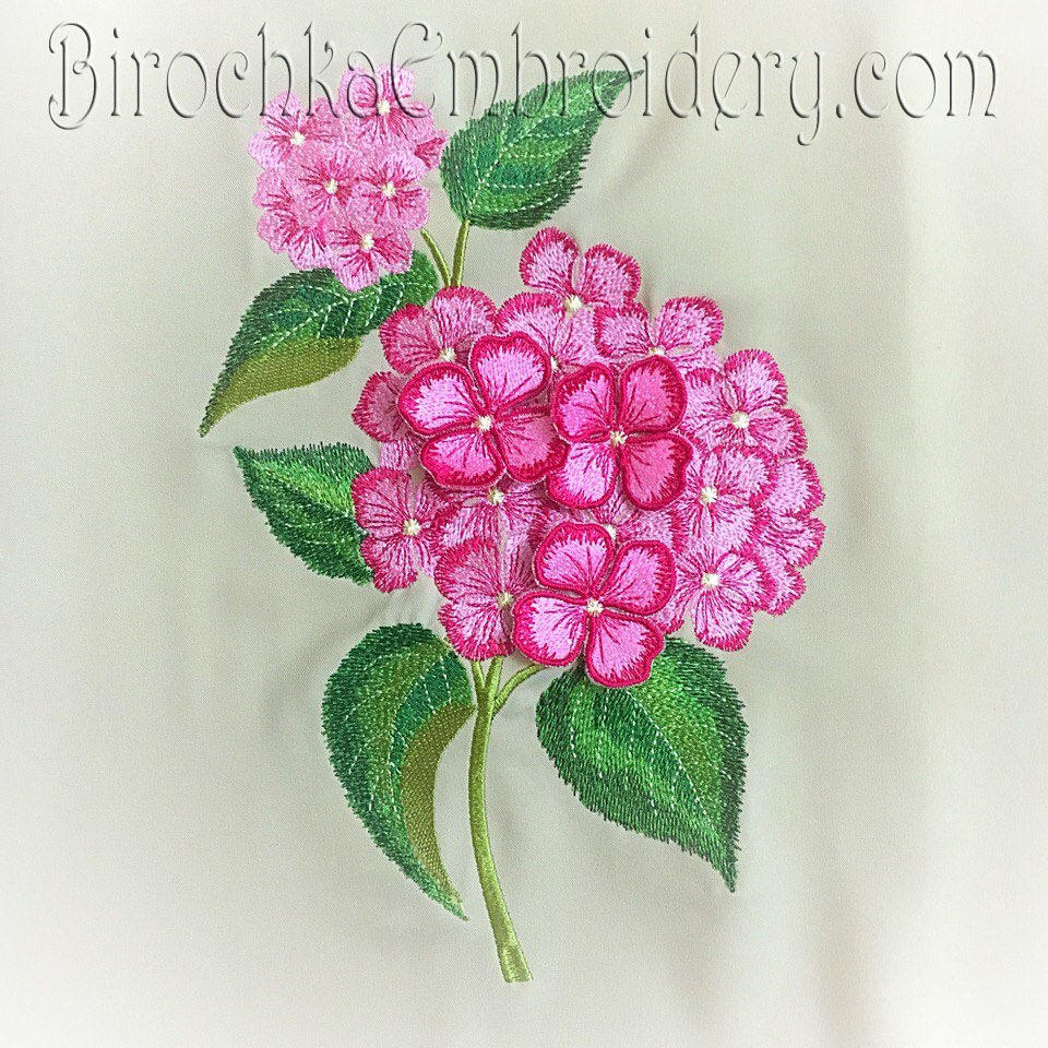 Flower Hydrangea Set Birochka Embroidery
