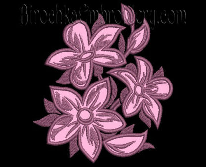 Applique flowers machine embroidery designs u birochka embroidery