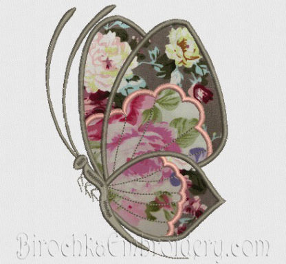 1 x  3D Embroidery  Butterfly Motifs Applique  White Lime Pink Cerise