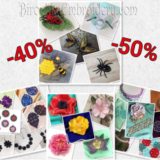 Embroidery bundles - price is lower by 40%, 50% and more
