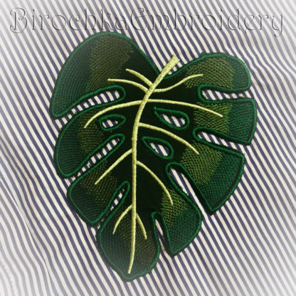 Monstera Leaf Applique Embroidery Pattern Birochka Embroidery Tropical leaves are the perfect way to transform your home into an island oasis and there are plenty of ways to do it! monstera leaf applique embroidery pattern